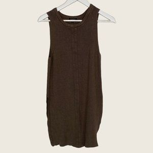 Dynamite Olive Green Sleeveless Sweater Tunic Top